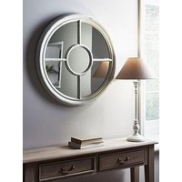 Product photograph showing Cox Cox White Round Window Mirror