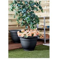 Product photograph showing Wham Set Of 4 Round Bell Planters - 48cm