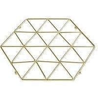 Product photograph showing Premier Housewares Vertex Trivet - Gold