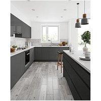 Product photograph showing Tile Giant Rowan Grey 15cm X 60cm Pack Of 12 Tiles