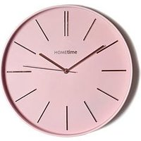 Product photograph showing Hometime Round Pink Wall Clock
