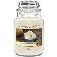 Product photograph showing Yankee Candle Yankee Candle Original Large Jar Scented Candle Coconut Rice Cream