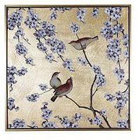 Product photograph showing Arthouse Blossom And Birds Capped Canvas Wall Art
