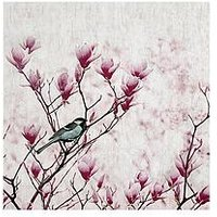 Product photograph showing Arthouse Magnolia Bird Canvas Wall Art