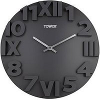 Product photograph showing Tower Infinity Stone Wall Clock - Slate Grey