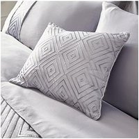 Product photograph showing Metallic Embroidered Cushion