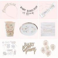 Product photograph showing Ginger Ray Baby In Bloom Ultimate Baby Shower Bundle