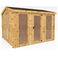 Product photograph showing Mercia 3 5m X 3m Log Cabin - 19mm