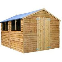 Product photograph showing Mercia 12 X 8ft Overlap Apex Shed