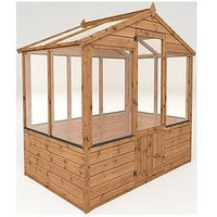 Product photograph showing Mercia 6 X 4ft Shiplap Greenhouse