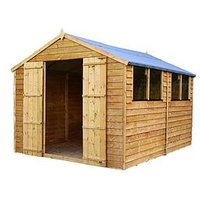 Product photograph showing Mercia 10 X 8ft Overlap Apex Shed