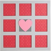Product photograph showing Premier Housewares Heart Photo Frame - 8 Sections