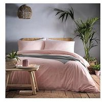 Product photograph showing Appletree Relaxed Cassia Duvet Set - Coral
