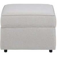 Product photograph showing Ted Fabric Storage Footstool