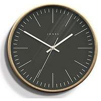 Product photograph showing Jones Clocks Penny Wood Effect Wall Clock