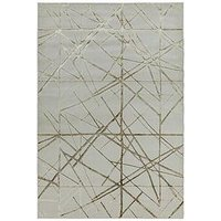 Product photograph showing Asiatic Aurora Rug - Silver Gold