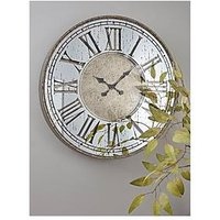 Product photograph showing Cox Cox Mirrored Roman Clock