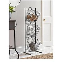 Product photograph showing Cox Cox Standing Wire Storage Basket