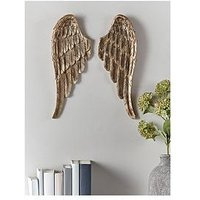 Product photograph showing Cox Cox Gold Angel Wings Wall Art
