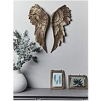 Product photograph showing Cox Cox Antique Gold Angel Wings Wall Art