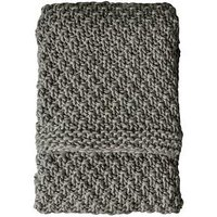 Product photograph showing Gallery Moss Chunky Knitted Throw - Grey