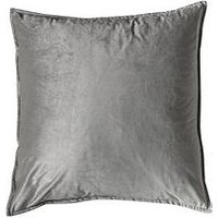 Product photograph showing Gallery Meto Velvet Oxford Cushion - Silver