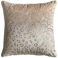Product photograph showing Gallery Mini Leopard Print Cushion - Gold