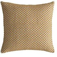 Product photograph showing Gallery Bolivia Cushion - Ochre