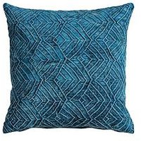 Product photograph showing Gallery Velvet Washed Cushion - Teal