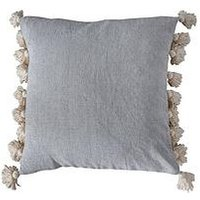 Product photograph showing Gallery Cotton Tassel Cushion - Natural