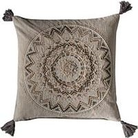 Product photograph showing Gallery Fortaleza Tassel Cushion - Natural