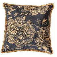 Product photograph showing Gallery Vintage Floral Cushion - Gold