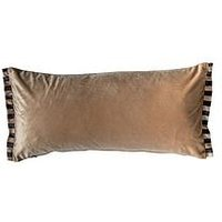 Product photograph showing Gallery Candy Velvet Oxford Cushion - Gold