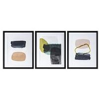 Product photograph showing Gallery Set Of 3 Skandi Contemporary Framed Print