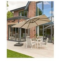 Product photograph showing Royce Ambassador Cantilever Parasol With Led Lights