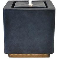 Product photograph showing Outdoor Elite Led Cube Water Feature - Granite