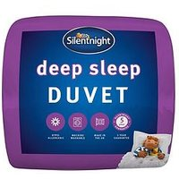 Product photograph showing Silentnight Deep Sleep 10 5 Tog Duvet