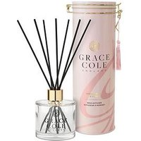 Product photograph showing Grace Cole Signature Vanilla Blush Peony Reed Diffuser