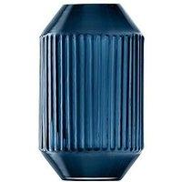 Product photograph showing Lsa International Lsa International Rotunda Sapphire Glass Vase - H15cm