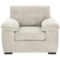 Product photograph showing Amalfi Fabric Armchair - Silver