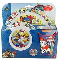 Product photograph showing Paw Patrol Kids Micro Dinner Set