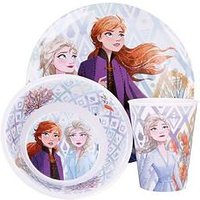 Product photograph showing Disney Frozen Frozen 3 Piece Melamine Dinner Set