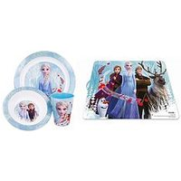 Product photograph showing Disney Frozen Frozen 4 Piece Dinner Set