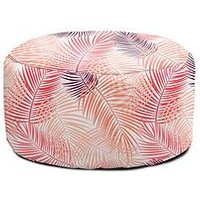 Product photograph showing Rucomfy Tropical Leaf Footstool