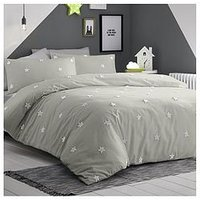Product photograph showing Tufted Star Duvet Set - Single