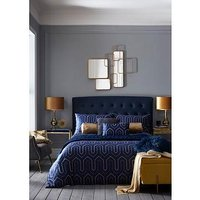 Product photograph showing Tess Daly Phoebe Midnight Duvet Cover Set