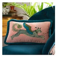 Product photograph showing Emma J Shipley Emma J Shipley Lynx Boudoir Cushion