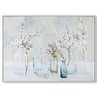 Product photograph showing Art For The Home Apple Blossom Bottles Canvas Wall Art