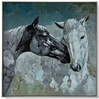 Product photograph showing Art For The Home Wild Horses Framed Canvas With Handpaint Detail