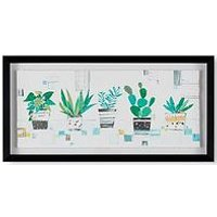 Product photograph showing Art For The Home House Plant Haven Framed Print